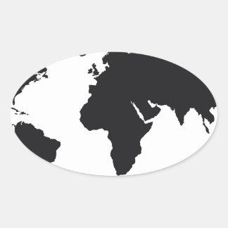 map design oval sticker