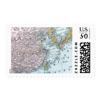 MAP: EAST ASIA, 1907 POSTAGE