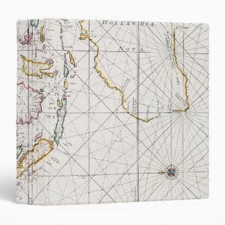 MAP: EAST INDIES, 1670 3 RING BINDER