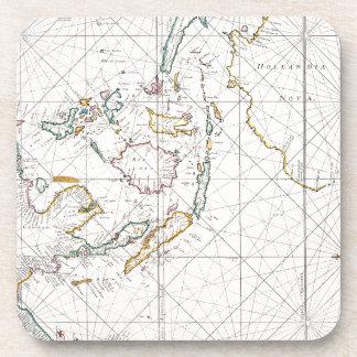MAP: EAST INDIES, 1670 BEVERAGE COASTER