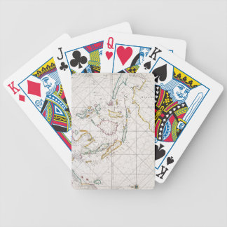 MAP: EAST INDIES, 1670 BICYCLE PLAYING CARDS