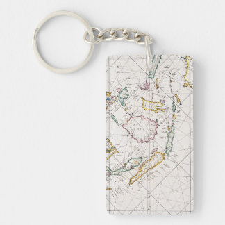 MAP: EAST INDIES, 1670 KEYCHAIN