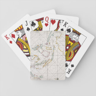 MAP: EAST INDIES, 1670 PLAYING CARDS