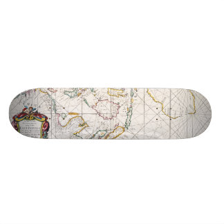 MAP: EAST INDIES, 1670 SKATEBOARD