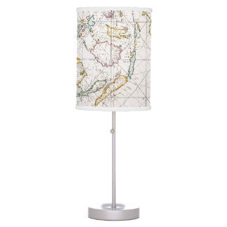 MAP: EAST INDIES, 1670 TABLE LAMP