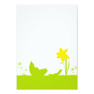 Map Easter narcissus egg shell Card