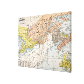 MAP: EASTERN CANADA CANVAS PRINT