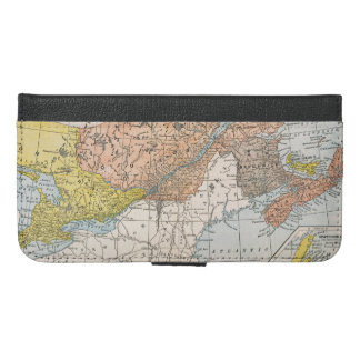 MAP: EASTERN CANADA iPhone 6/6S PLUS WALLET CASE