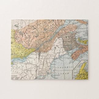MAP: EASTERN CANADA JIGSAW PUZZLE
