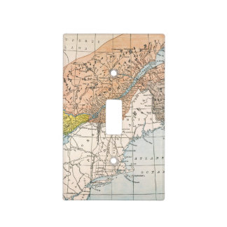 MAP: EASTERN CANADA LIGHT SWITCH COVER