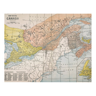 MAP: EASTERN CANADA PANEL WALL ART