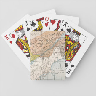 MAP: EASTERN CANADA PLAYING CARDS