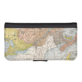 MAP: EASTERN CANADA WALLET PHONE CASE FOR iPhone SE/5/5s