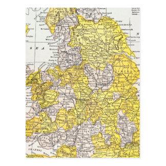 MAP: ENGLAND & WALES POSTCARD