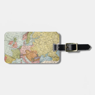 MAP: EUROPE, 1885 LUGGAGE TAG