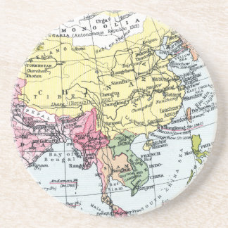 MAP: EUROPE IN ASIA DRINK COASTER
