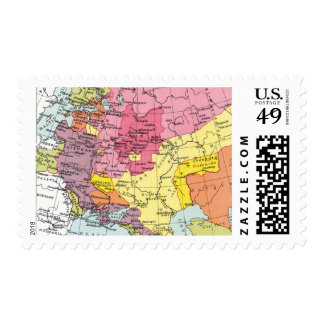 MAP: EXPANSION OF RUSSIA POSTAGE
