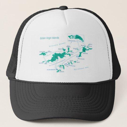 Map/FLAG British Virgin Islands Trucker Hat