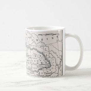 MAP: GERMANY AND AUSTRIA COFFEE MUG