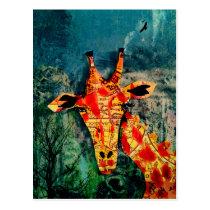 Map Giraffe 2 Postcard
