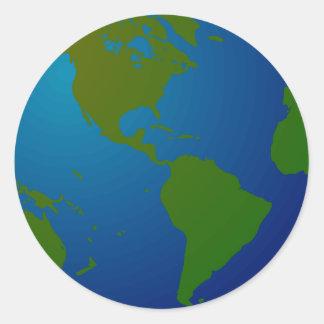 Map Globe Sticker