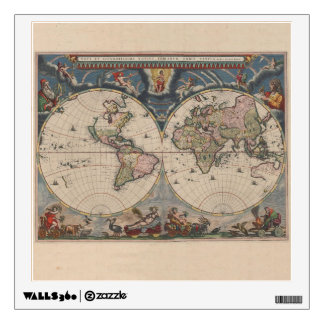 Map Globe Travel Art Vintage Antique Wall Sticker