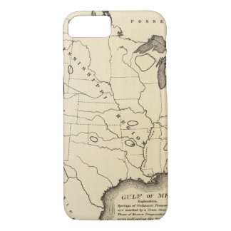 Map, hot springs, United States iPhone 7 Case