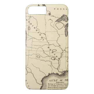 Map, hot springs, United States iPhone 7 Plus Case