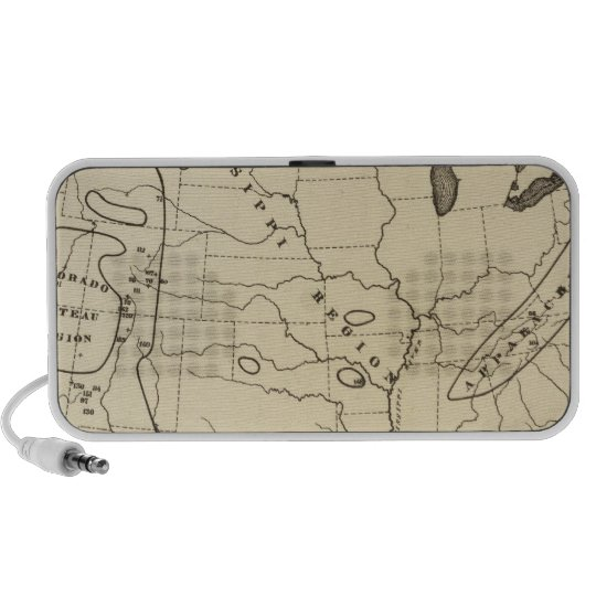 Map, hot springs, United States Portable Speaker