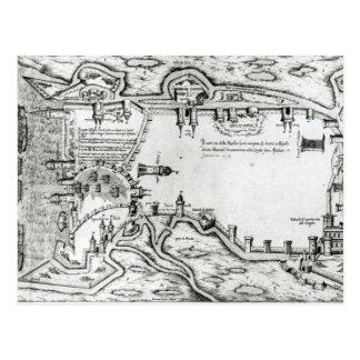 Map illustrating La Rochelle occupied Postcard