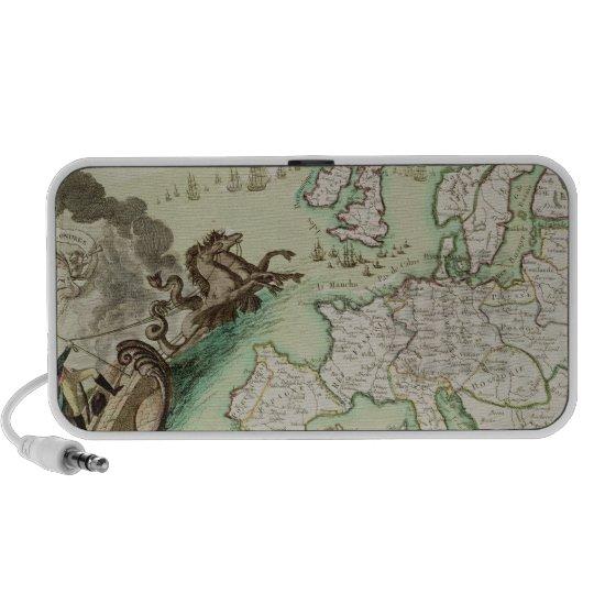 Map illustrating the Naval Attack on England Mini Speaker
