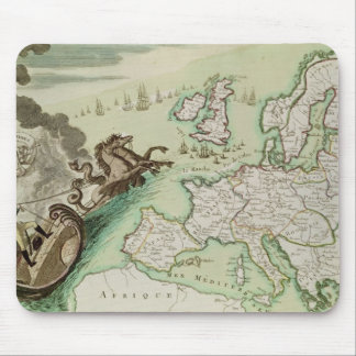 Map illustrating the Naval Attack on England Mouse Pad