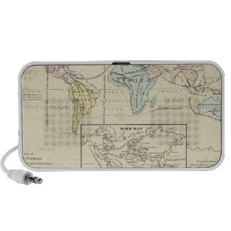 Map in color of The World Mini Speaker