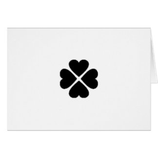 Map invitation clover sheet heart love black black