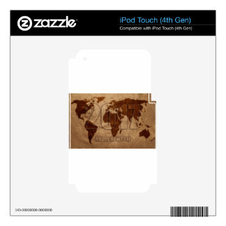 Map iPod Touch 4G Skin