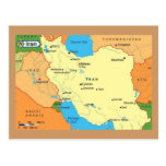 Map-Iran-1990s Postcard