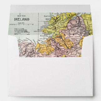 MAP: IRELAND, c1890 Envelope