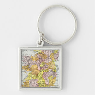 MAP: IRELAND, c1890 Keychain