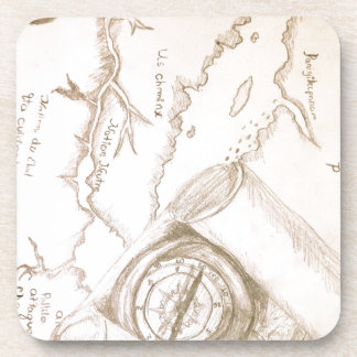 Map It Out Beverage Coasters