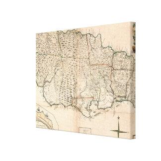 MAP: JAMAICA, 1755 2 CANVAS PRINT