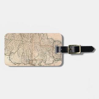MAP: JAMAICA, 1755 2 LUGGAGE TAG