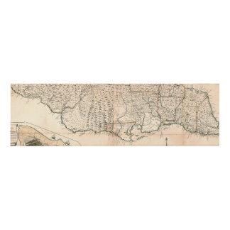 MAP: JAMAICA, 1755 2 PANEL WALL ART