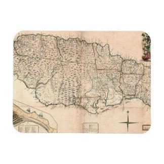 MAP: JAMAICA, 1755 2 RECTANGULAR PHOTO MAGNET