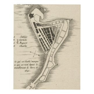 MAP: JAMAICA, 1755 PANEL WALL ART
