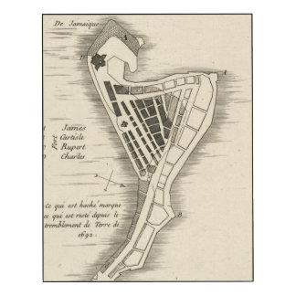 MAP: JAMAICA, 1755 WOOD WALL ART