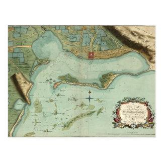 MAP: JAMAICA, 1756 POSTCARD