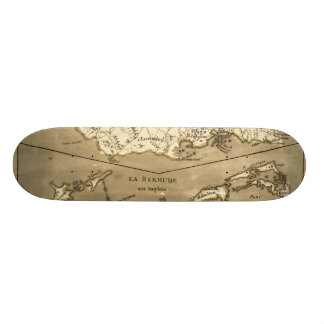MAP: JAMAICA, 1767 SKATEBOARD DECK