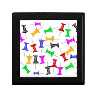 Map Knob Pins Gift Box