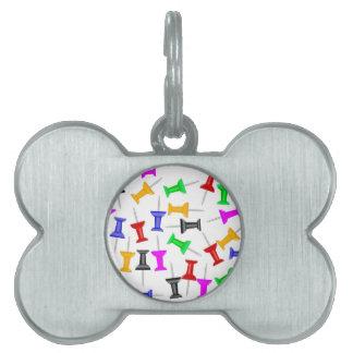 Map Knob Pins Pet ID Tag