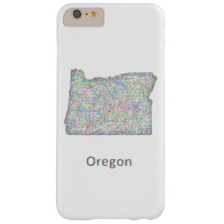 map_line_US_01_Oregon.ai Barely There iPhone 6 Plus Case